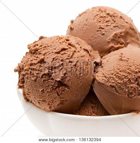 Ice cream dessert isolated on white background