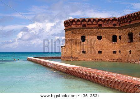 Snorkelers Fort Jefferson