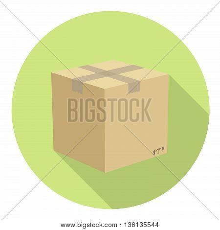 Delivery Carton Box Flat Style Design Icon