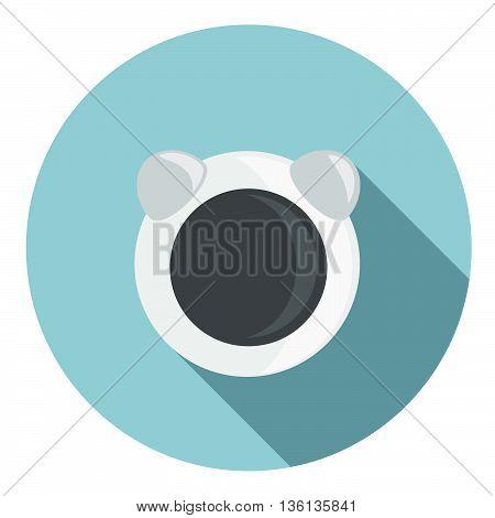 Astronaut Helmet Flat Icon