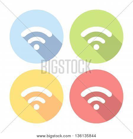 Wireless Free Network Flat Icons Set