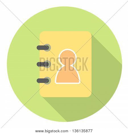 Business Contact Book Flat Style Design Icon