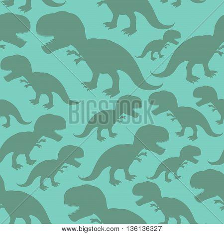 Dinosaur Seamless Pattern. Dino Texture. Tyrannosaurus Rex Ornament. Prehistoric Reptile Pattern. An
