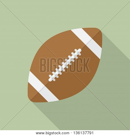 american football rugby ball icon flat vector illustration
