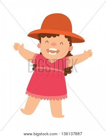 Baby kid vector illustration