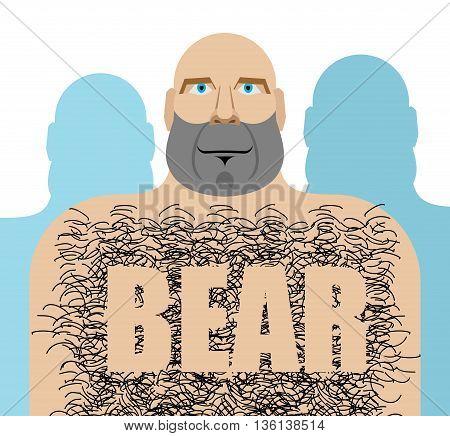 Gay bear. Big hairy man. LGBT community
