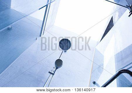 Shower Head In Bathroom, Design Of Home Interior Outdoor Bathroom With Open Roof