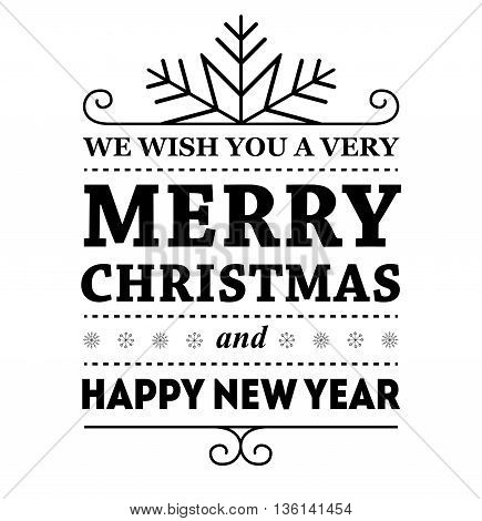 Vector illustration Merry Christmas and Happy new year message.