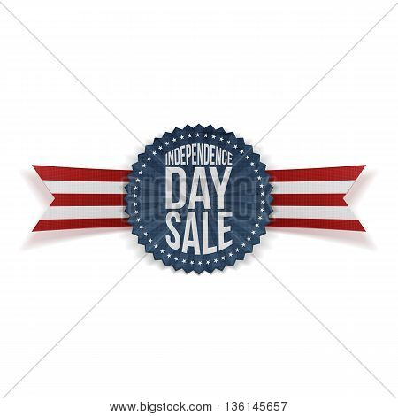 Independence Day Sale textile Banner. Vector Illustration