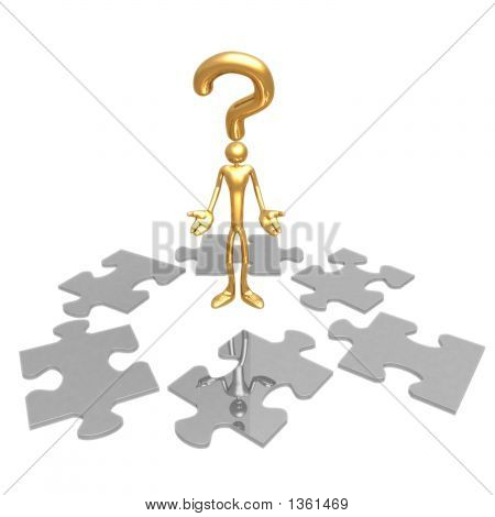 Question Pondering Puzzle Pieces