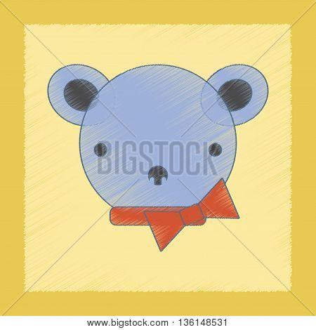 flat shading style icon Kids toy bear