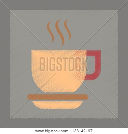 flat shading style icon coffee cup flavor