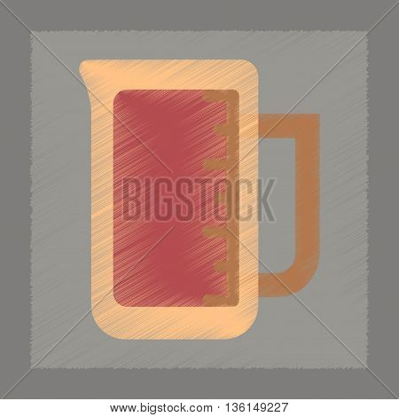 flat shading style icon coffee measuring cup