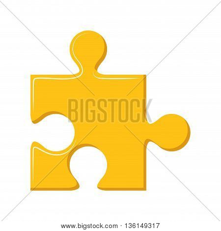 Piece of game concept represented by puzzle icon. isolated and flat illustration
