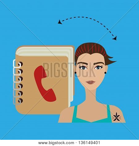 user phonebook design, vector illustration eps10 graphic