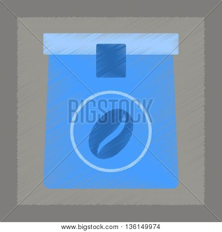flat shading style icon coffee paper package