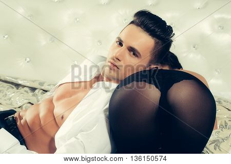 Muscular Man With Female Buttocks