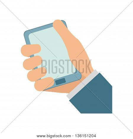 Gadget and Technology concept represented by smartphone icon. isolated and flat illustration