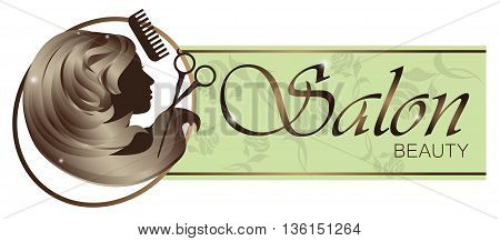 Beauty salon logo design isolated on a white background. vector illustration.