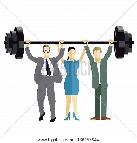 Business Weightlifting, dumbbell, strong, strength, lift, up, high,