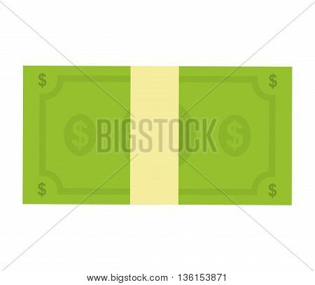 Money concept represented by bill icon. isolated and flat illustration