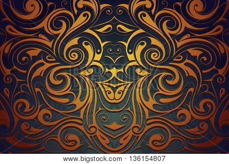 Abstract ornamental background with orient style elements. Good for invitation and greeting card design
