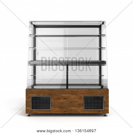 Shop Window For Sweets 3D Render Isolated On White