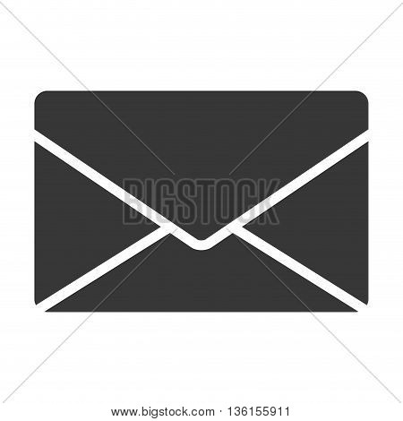 Communication concept represented by envelope icon. isolated and flat illustration