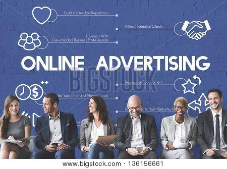 Online Advertising Marketing Internet Concept