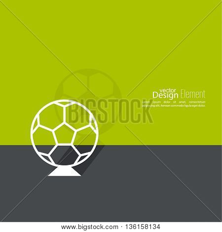 Vector icon of a soccer ball. football. For web and mobile applications. layout for booklet, flyer, cover, preview, announcement, report