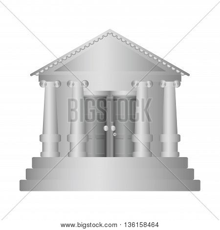 Money concept represented by bank icon. isolated and flat illustration