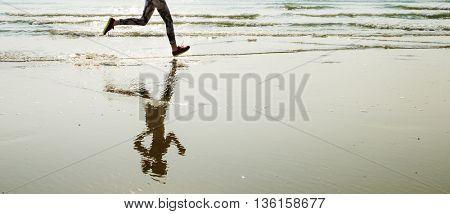 Yoga Exercise Active Beach Outdoor Concept
