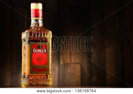 Bottle Of Olmeca Tequila Gold