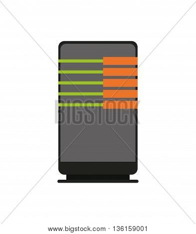 Data center concept represented by web hosting icon. isolated and flat illustration