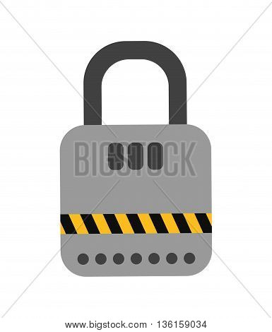 Security system concept represented by padlock icon. isolated and flat illustration