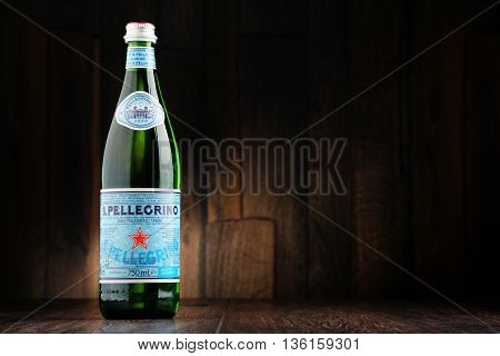 Bottle Of San Pellegrino Mineral Water