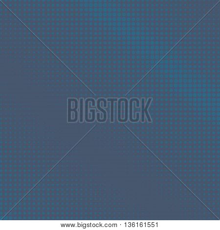 Pop Art Background ,Light Blue Dots on a Dark Blue Background, Halftone Background, Retro Style, Vector Illustration