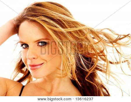 fashion woman face portrait isolated over a white background