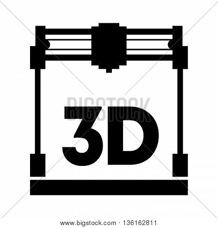 3d printer ( shade picture ) on white background