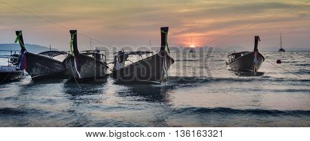 Vessel Island Morning Coastline Summer Concept