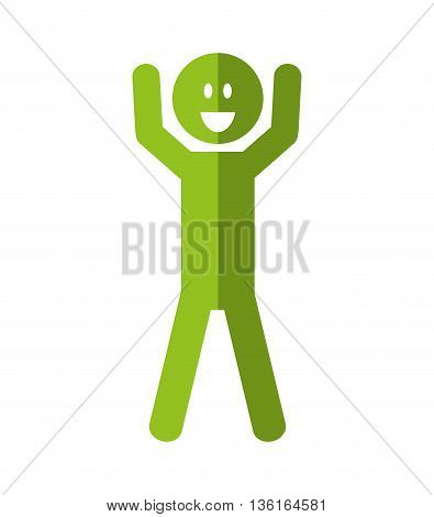 Thinking concept represented by Positive feeling on pictogram  icon. isolated and flat illustration
