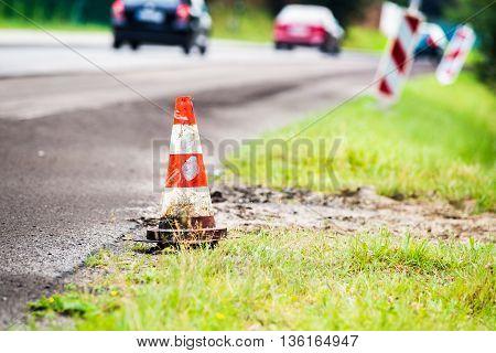 Summer Road Work. Road Renewal.