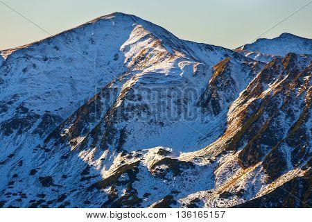 Autumn Mountain Landscape, Red Peaks, Tatras Mountain