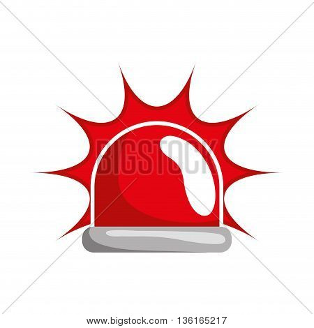 Security and insurance concept represented by alarm icon. isolated and flat illustration