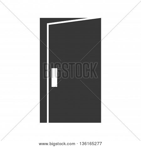 home concept represented by door icon. isolated and flat illustration