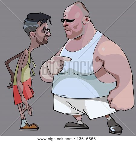 cartoon comic thin man and the fat man talk