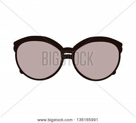 Fashion concept represented by female glasses icon. isolated and flat illustration
