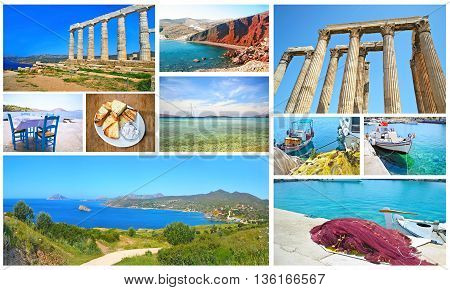 collage Greece - greek summer photos collection