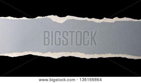 Gap in blue ripped paper