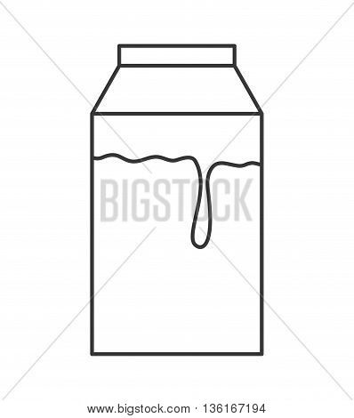 Drink and beverage concept represented by box of milk icon. isolated and flat illustration
